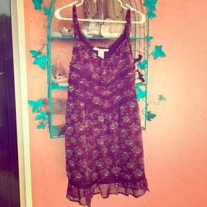 Summer dress maroon lace